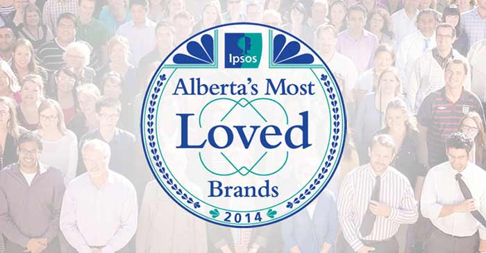 We're one of Alberta's Top 10 Most Loved Brands